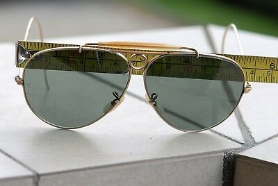 Ray Ban Aviator Vintage Shooter B L 62-14 USA. SUNGLASSES Bausch   Lomb 4bf742d95711