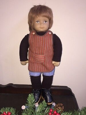 "Rare~HEIDI OTT~Hand Painted~17"" Boy Doll~Swiss Made~Signed~Numbered~Human Hair~"