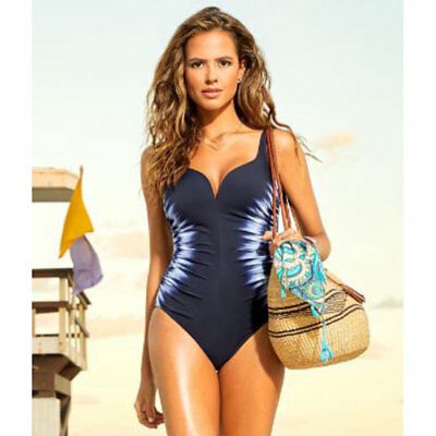 220d9b7296 Miraclesuit Multicolor Sound Waves Temptress Sweetheart Swimsui One-piece 10