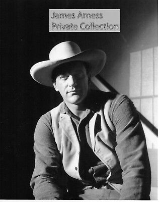 """James Arness Private Collection Gunsmoke """"Rembrant Lighting""""  8 x 10  Photo"""