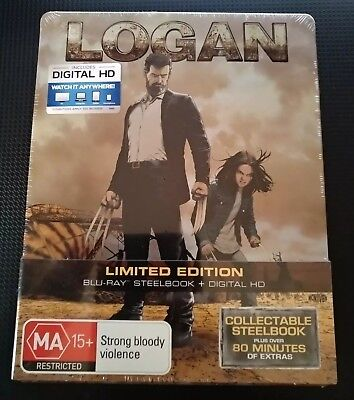 *NEW & SEALED*  LOGAN  (Limited Steelbook Blu-Ray, JB Hi-Fi Exclusive) RARE/OOP