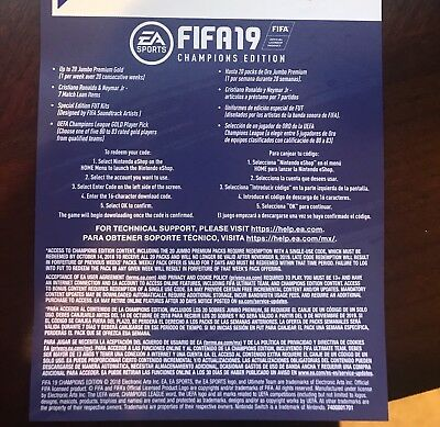 Fifa 19 Champions Edition DLC - Nintendo Switch - Code Only, No Game.