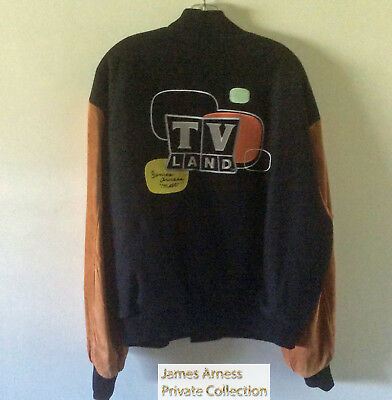 James Arness Gunsmoke Marshal Dillon TV Land Varisty Style Jacket SZ XL Signed