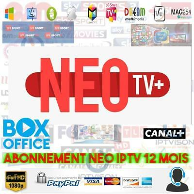 12 Months Code NEO TV PRO2 H.265, Smart TV Android box m3u