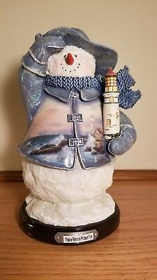 "The Bradford Editions Limited Edition  ""Beacon of Hope"" Thomas Kinkade Snowman"