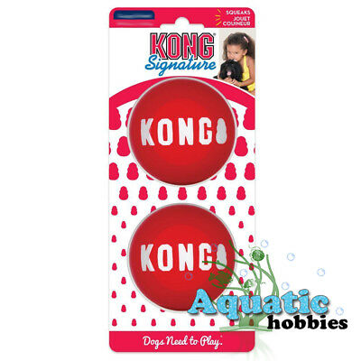 Kong Signature Ball For Dog Puppy Squeaks Toy Fetch Squeaker Choose Size