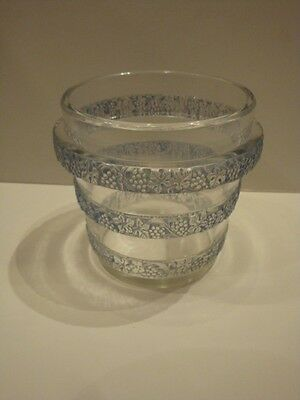 R. Lalique Rare Exquisite Opalescent Tiered Vase With Grape Clusters!!