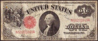 1917 $1 Dollar United States Legal Tender Large Size Note