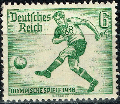 Germany Third Reich Berlin Summer Olympic Games stamp 1936 Soccer MNH