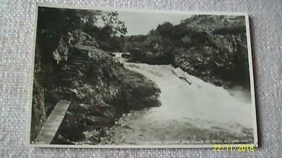 Postcard -- Salmon Leaping The Falls Of Shin , Sutherland