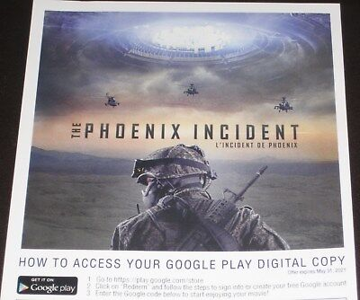 The Phoenix Incident UFO Alien Arizona Google Digital Code CANADA RESIDENTS ONLY