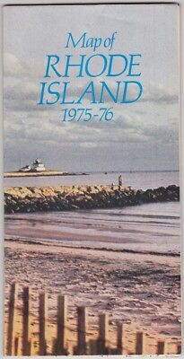1975-76 Official State Issue Road Map Of Rhode Island