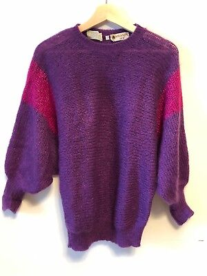 Vtg Antonella Ore Mohait And Wool Sweater Size 36