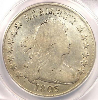1803 Draped Bust Silver Dollar $1 - Certified ANACS F12 Details - Rare Coin!