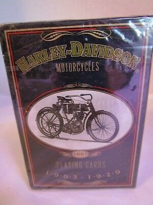 1997 HARLEY DAVIDSON Motorcycles Anniversary Deck Playing Cards 1903-1929 U.S.A