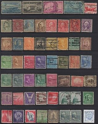 USA No.14 COLLECTION OF (53) STAMPS USED.