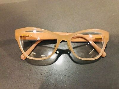 VERSACE Mod. 3180 GB1 Beige Designer Eyeglass Frame Women Cat Eye Glasses Gold