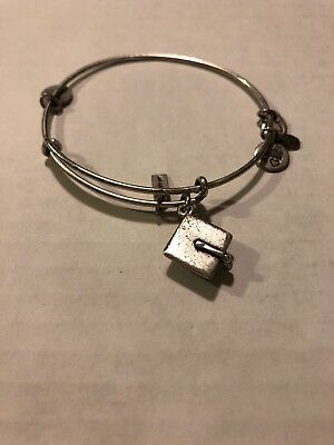 alex and ani bracelet silver used Graduation Cap Preowned