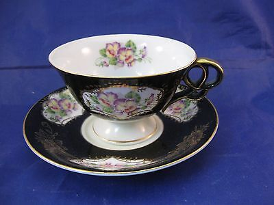 Vintage Hand Painted Porcelain Tea Cup and Saucer - Made in Japan