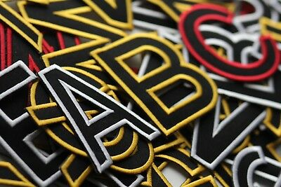 A-Z Letter Alphabet  Iron On / Sew On Patches Badges