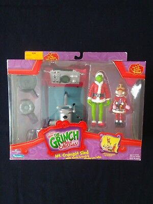 Dr. Suess The Grinch Who Stole Christmas Mt. Crumpit Sled Playmates Nib 2000