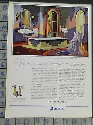 1928 Home Decor Bathroom Standard Plumbing Bath Tub Sink Vintage Ad Cp45