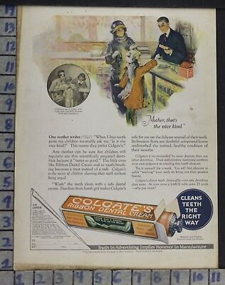 1923 Colgate Dental Cream Dentist Hygienist Tooth Paste Health Vintage Ad Dn42