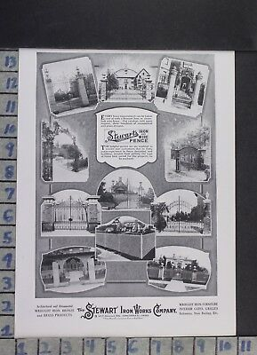1927 Stewarts Iron Works Wire Fence Company Gates Grilles Vintage Ad Dj96