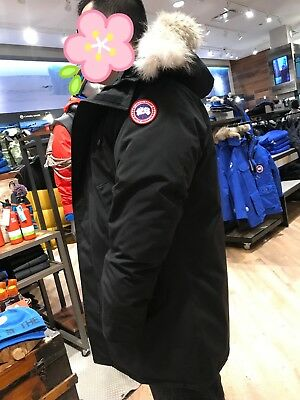 Canada Goose Mens Longford Parka Puffer Winter Coat Black Size Large