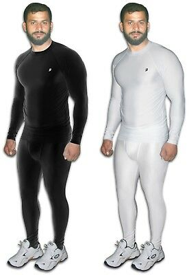 Mens Boys Body Armour Compression Baselayers Thermal Under Shirt Top Skins M-XL