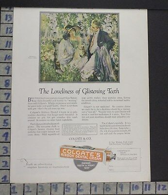 1924 Colgate Keller Dental Dentist Hygienist Teeth Health Vintage Art Ad  Bp76