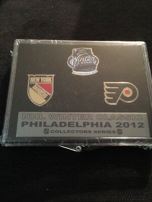 Nhl Winter Classic 3 Pin Set Ny Rangers At Philadelphia Flyers 2012 Collectible