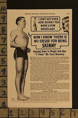 1936 Ironized Yeast Weight Gainer Fitness Medical Cure Health Vintage Ad  Zf67