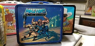 """1983 MASTERS OF THE UNIVERSE """"He-Man"""" MOTU GD Cond Metal Lunch Box - No Thermos"""