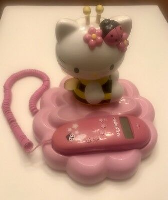 Hello Kitty - Bumble Bee Caller ID Telephone -- Works Great. Collectable