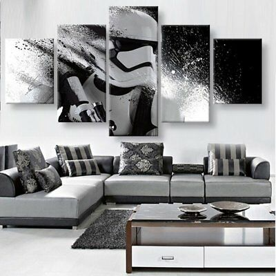 HD print 5 piece canvas painting Star Wars Stormtrooper wall pictures for living