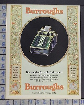 1928 Burroughs Calculator Adding Machine Accountant Register Vintage Ad  Cr94