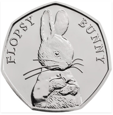 Rare Flopsy Bunny Cheapest Mint Uncirculated Condition 2018 50p Beatrix Potter