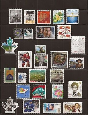 S10 Collection of 28 recent Canada used stamps