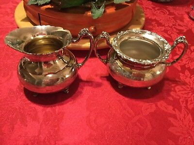 Community Ascot Sheffield Reproduction Silverplate Cream & Sugar