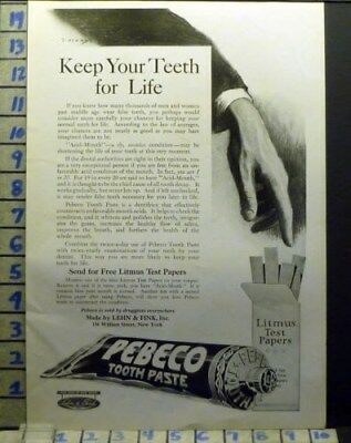 1919 Pepsodent Tooth Paste Dental York Dentist Brush Health Art Ad  Av15