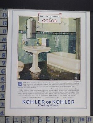 1928 Kohler Sink Kitchen Fixture Bathroom House Home Decor Vintage Ad  Cn85