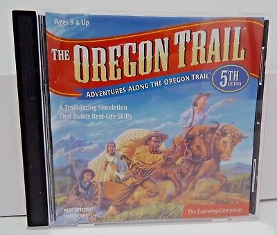 The Learning Company : The Oregon Trail  5TH Ed. CD Mac & Windows (notes) CD: LN