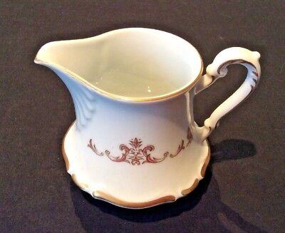 Empress China Of Japan Florence #152 Creamer Porcelain Gold & Burgundy Scroll