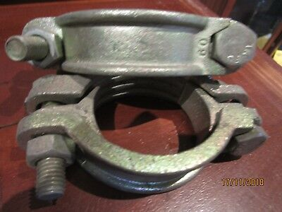 """Hose Clamps X 2 , """"ludecke"""" Germany , 60 Mm New Old Stock."""
