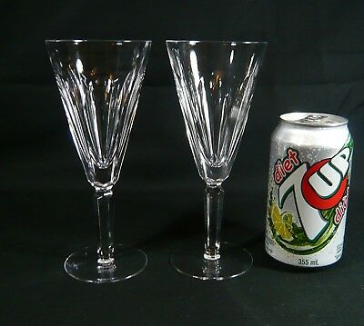 2 Waterford SHEILA ( CUT ) Crystal  CHAMPAGNE 7 1/8 inch WINE GLASS Flutes