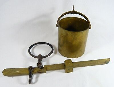 Vintage Canadian BRASS WHEAT GRAIN  Weight SCALE Burrow Stewart  Milne Co Ltd