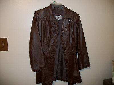 Ladies Vintage 70's Genuine Leather Jacket by Classic Directions/Size 12
