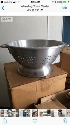 Commercial Aluminum Cookware #1516 16 Quart Colander Brand New Extra Heavy Duty
