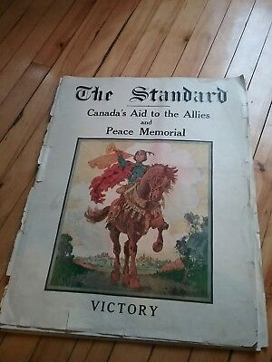 Original 1919 Montreal Standard Publishings Canada's Aide To The Allies Complete